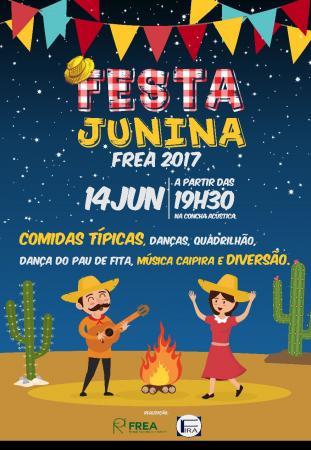 FREA Promove festa junina no próximo dia 14 na concha acústica