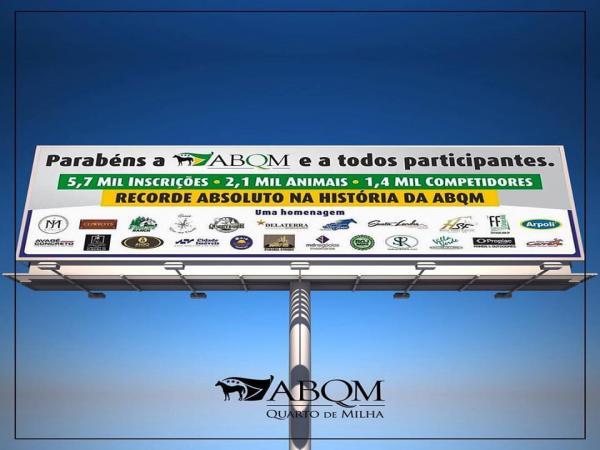 ABQM recebe homenagem por recorde absoluto em inscrições do Nacional 2017