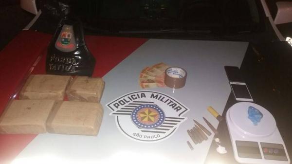 Homens são presos com fuzil e tabletes de maconha em Avaré