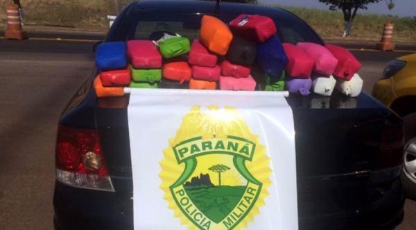 Polícia encontra mais de R$ 1 milhão em drogas escondida em carro com placas de Avaré