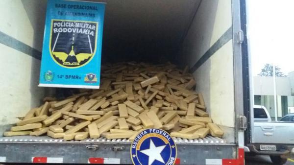 Sete toneladas de maconha em carreta de Avaré são apreendidas no Mato Grosso do Sul.