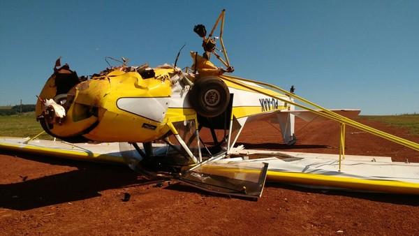 Casal fica ferido após acidente com aeronave em  Itaí