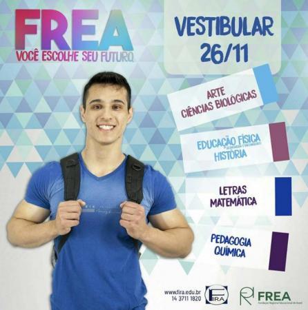 Frea recebe inscrições para vestibular 2018 até o próximo dia 21