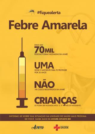 Vigilância divulga horários para vacinação contra a febre amarela