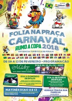 Carnaval em Piraju (SP) começa dia 9 de fevereiro