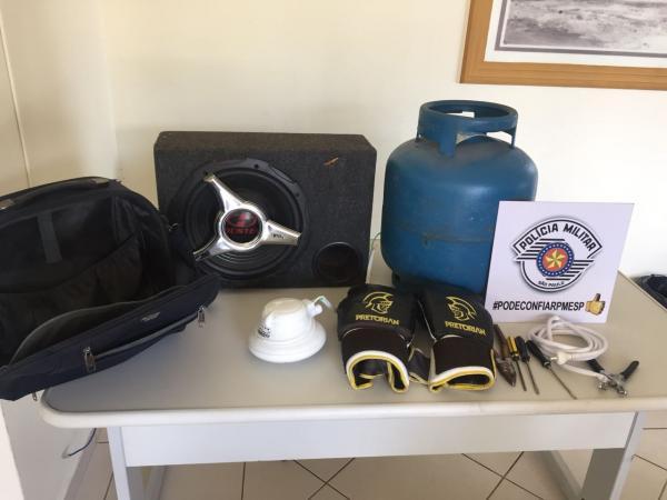 PM prende homem por furto e recupera objetos em Avaré