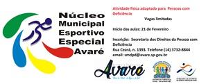 Secretarias promovem aulas de atletismo adaptado em Avaré