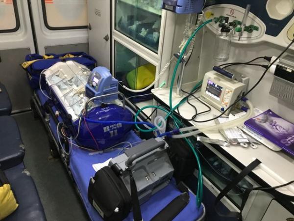 Transferência de bebê prematuro para HC de Botucatu mobiliza equipe médica e PM