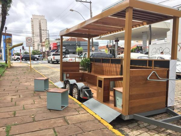 Parklet em Araraquara dia 10 de março