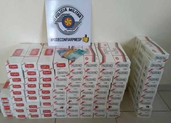 Polícia apreende mais de 800 maços de cigarros sem nota fiscal em Avaré