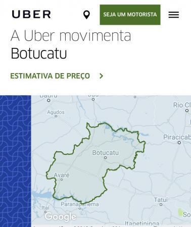 Uber inicia cadastro de motoristas para atuação em Avaré