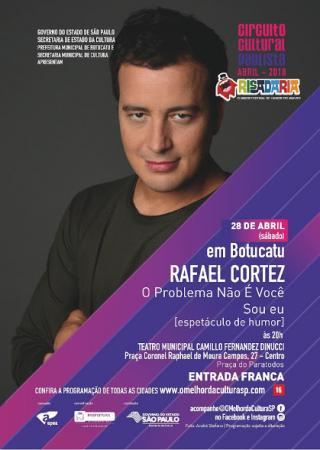 Sábado, 28, tem Rafael Cortez no Circuito Cultural Paulista em Botucatu