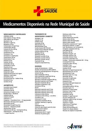No Pronto Socorro, Saúde expõe cartazes com a lista de remédios