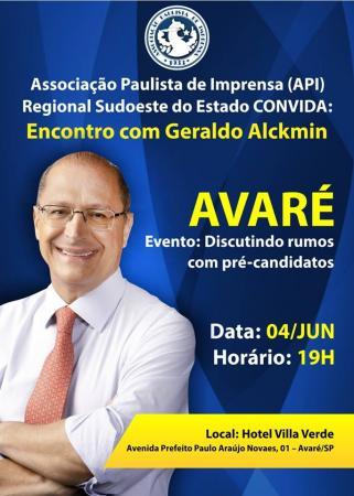 """Alckmin será o primeiro participante do """"discutindo rumos com pré-candidatos"""""""