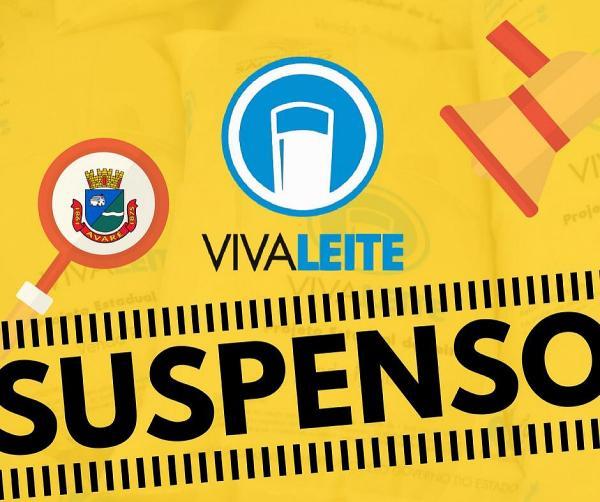 Entregas do programa Viva Leite estão suspensas