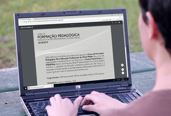 Centro Paula Souza abre inscrição para curso  de Formação Pedagógica de professores