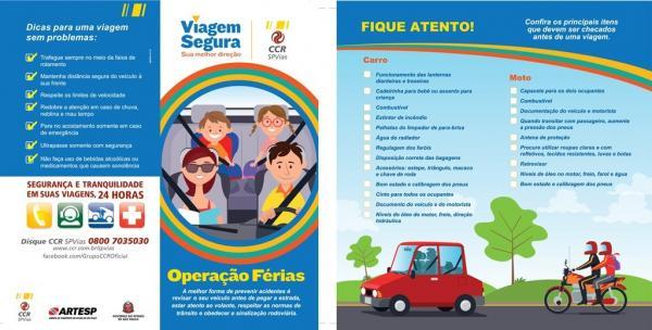 """Campanha """"Operação Férias"""" tem início nas rodovias da CCR SPVias"""