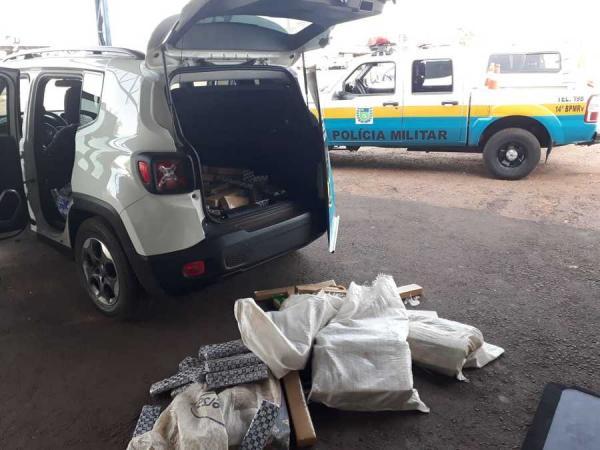 Veículo de Avaré é apreendido no Mato Grosso do Sul com cinco fardos de maconha