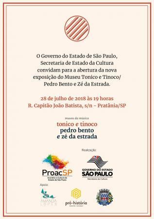 Museu da Música Tonico e Tinoco Pedro Bento e Zé da Estrada será reinaugurado em Pratânia