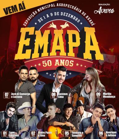 Prefeitura conclui grade de shows da 50ª Emapa