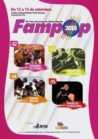 Cultura divulga programação de shows da 36ª FAMPOP