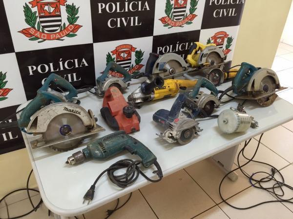 Polícia Civil esclarece furtos em construções e recupera 12 máquinas