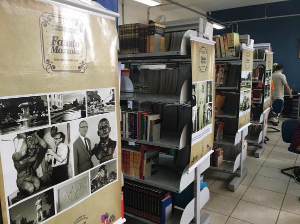 Mostra de banners sobre a vida de Fausto Mazzola acontece na ETEC