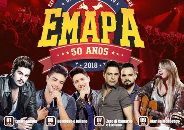 Prefeitura divulga programação oficial da 50ª edição da Emapa