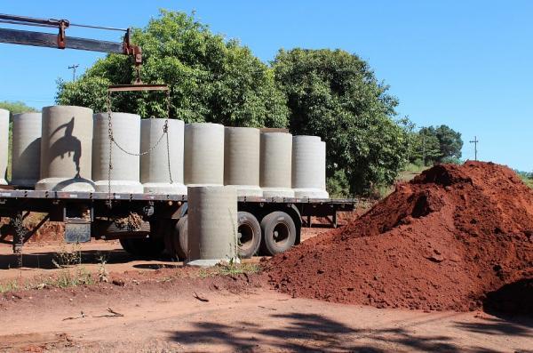 Iniciadas as obras de pavimentação da Avenida Santa Bárbara